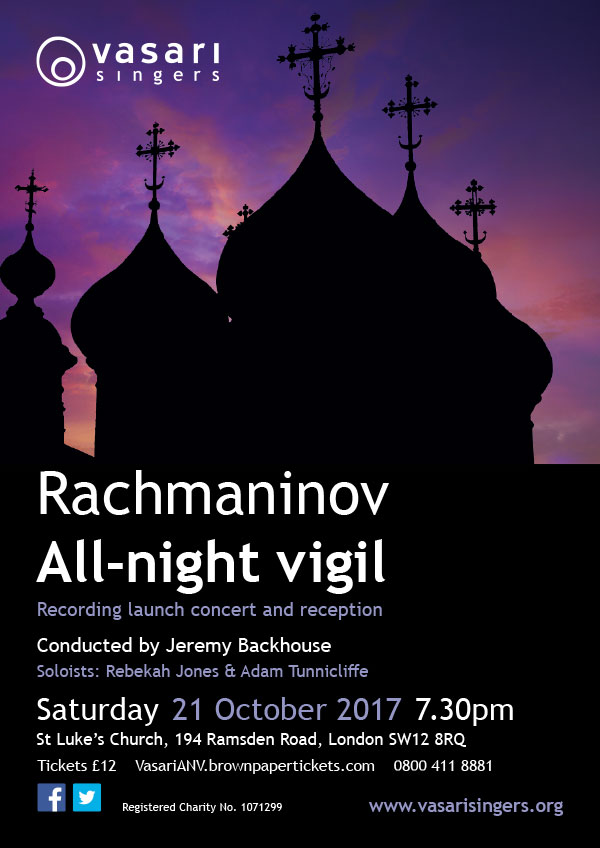 Rachmaninov: All-night Vigil (Vespers) – CD launch concert