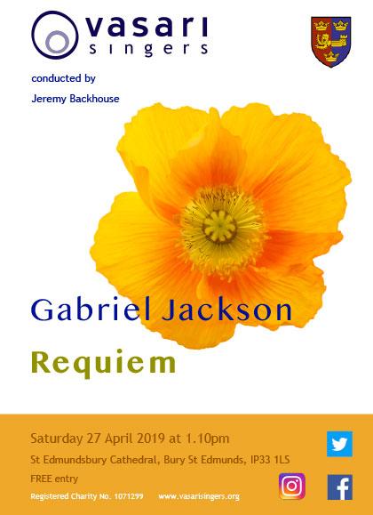 Free Recital – Gabriel Jackson: Requiem